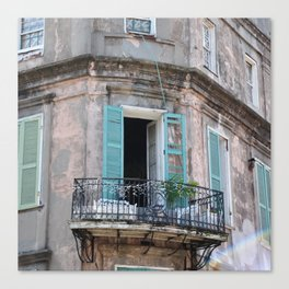 New Orleans French Quarter Balcony Canvas Print