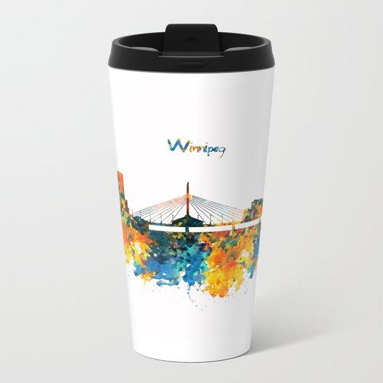 Winnipeg Skyline Metal Travel Mug