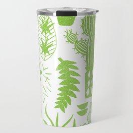 Cactii Textured Print Pattern Travel Mug