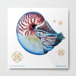 Eco Mural Project 7: Nautili Metal Print