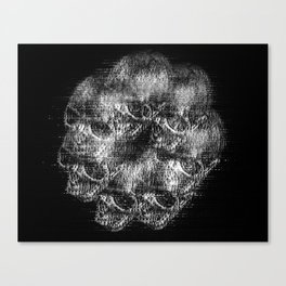 Analogue Glitch Skull Ring Canvas Print
