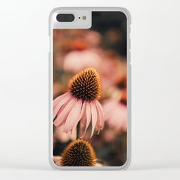 echinacea flowers Clear iPhone Case