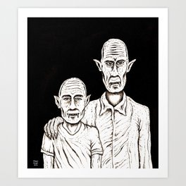 Father and son Art Print