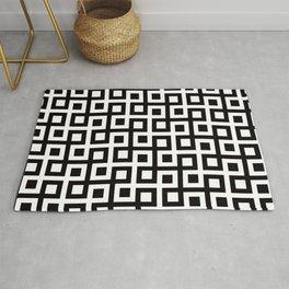 Geometric Pattern 33 (square loop) Rug