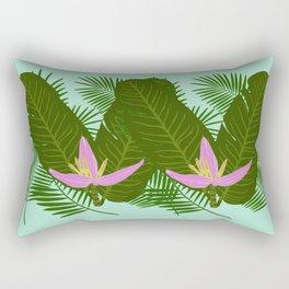 Tropical banana flower Rectangular Pillow