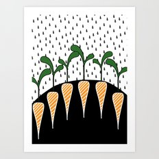 Eat carrots Art Print