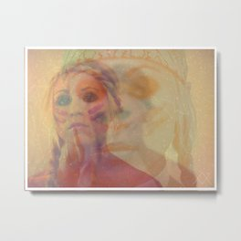 THE BRAVEST BLONDE GHOST Metal Print