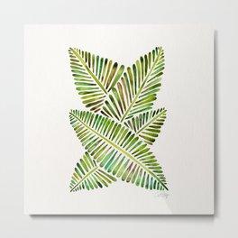 Tropical Banana Leaves – Green Palette Metal Print