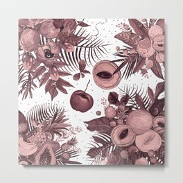 forest fruit pattern Metal Print