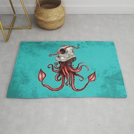 Squid with Diving Helmet Rug