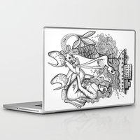 mermaids Laptop & iPad Skins featuring Mermaids by Christina Dedic