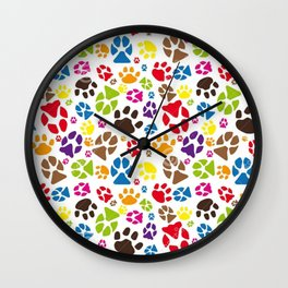 Animals pattern Wall Clock