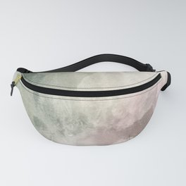 Abstract blush pink green white watercolor brushstrokes Fanny Pack