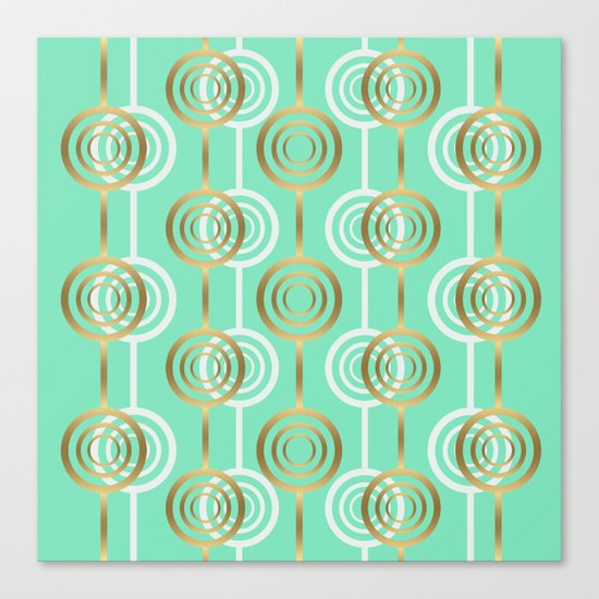 Gold and Mint Canvas Print