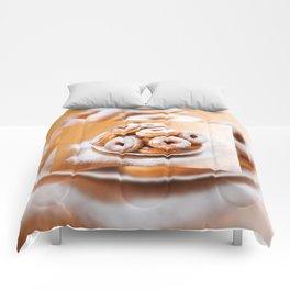 Pile of sweet homemade doughnuts Comforters