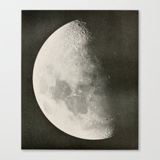 Black and White Moon Canvas Print