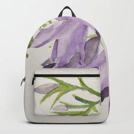 Purple bell flowers Backpack