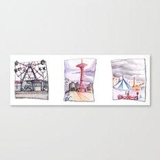 Coney Island Trio  Canvas Print