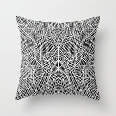 Abstract Lace on Black Throw Pillow