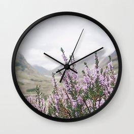 Heather in Glencoe Wall Clock