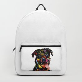 Colorful Watercolor Rottweiler - Gift for Rottweiler lover Backpack