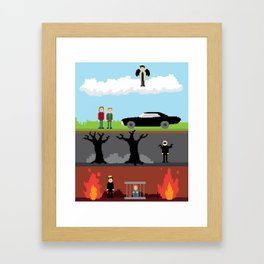 Supernatural - From Heaven and Hell Framed Art Print