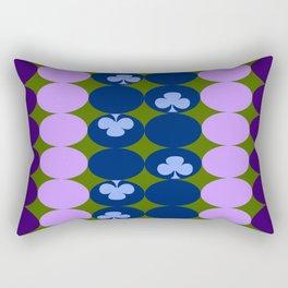 Blue clovers and purple haze Rectangular Pillow