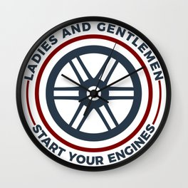 Racers Start Your Engines Racing Driving Competition Wall Clock