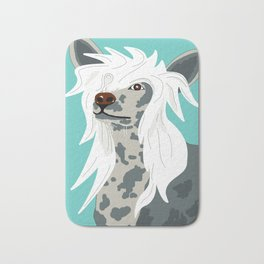 Chinese Crested Bath Mat