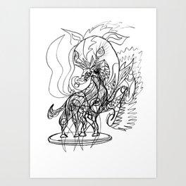 Unicorn two Art Print