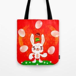 Juggling Rabbit Tote Bag