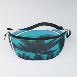 Beach palms with colorful sky california Fanny Pack