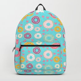hearts and donuts blue Backpack