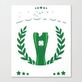 Boston Drinking Team Green Beer Cool St Patricks Day Canvas Print