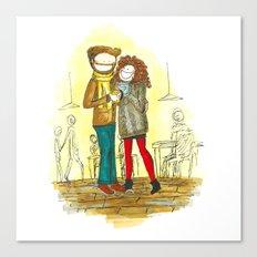 Coffee + Love Canvas Print