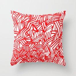 Redline (White version) Throw Pillow