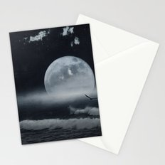 moon-lit ocean Stationery Cards