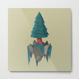 Floating Island: The Pine Metal Print