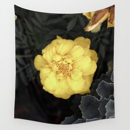 The Soft Yellow Flower (Vintage) Wall Tapestry