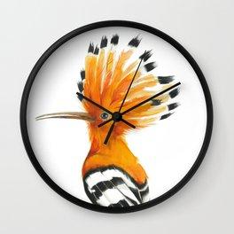 Hoopoe colourful bird Wall Clock