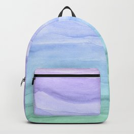 Layers Blue Ombre - Watercolor Abstract Backpack