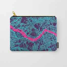 Seoul Neon City Map, Seoul Minimalist City Map Carry-All Pouch
