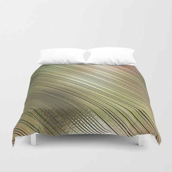 Golden Stripes Duvet Cover