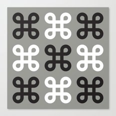 Monotone loops Canvas Print