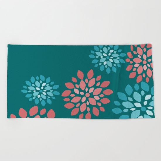 Flower Flurries Beach Towel