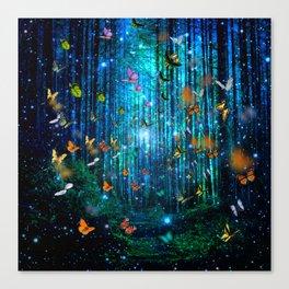 Magical Path Butterflies Canvas Print