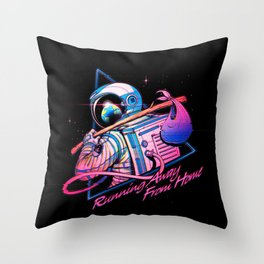 Running Away From Home Throw Pillow