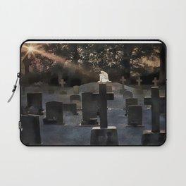 Gravestones and statue Laptop Sleeve