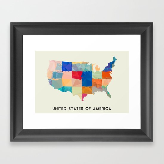United States of America Framed Art Print
