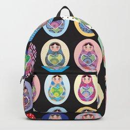 cute doll babushka matryoshka Backpack